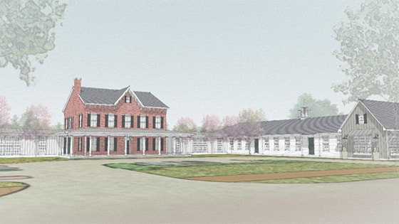 building sketch of Kemper House community in Columbus